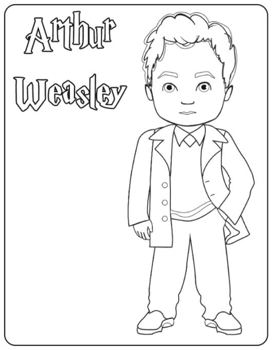 Arthur Weasley coloring page