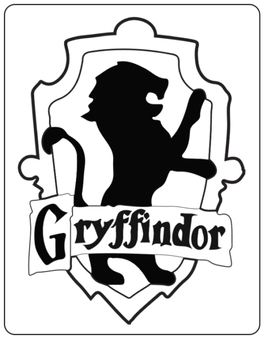 Griffindor Crest coloring page