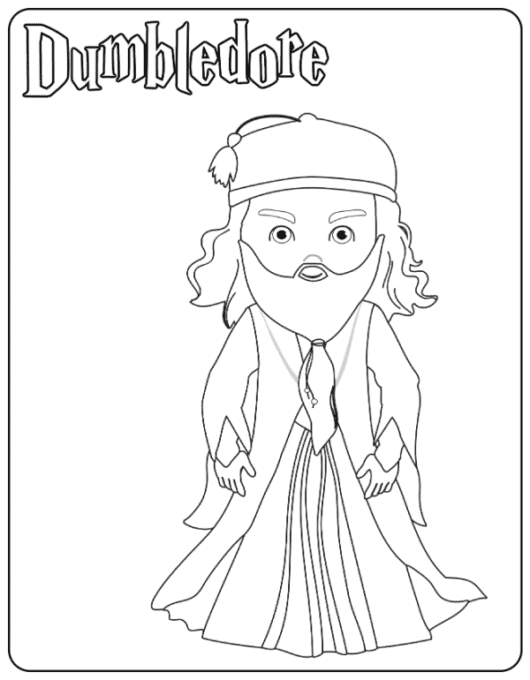 Dumbledore coloring page