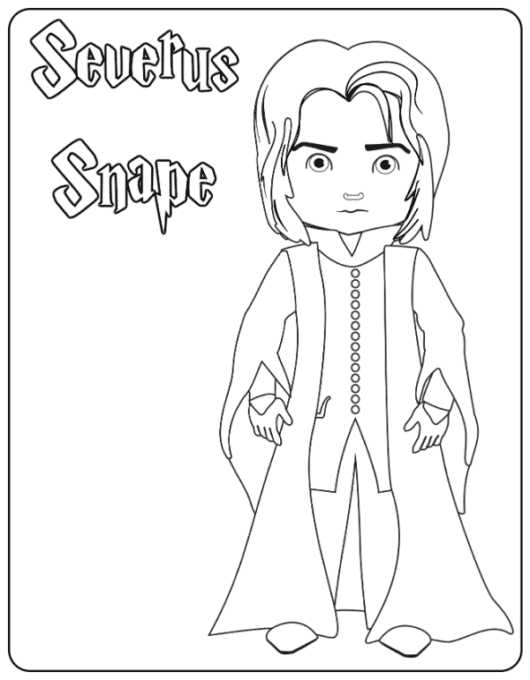 Professor Snape coloring page