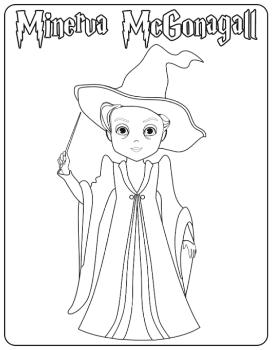 Professor coloring page