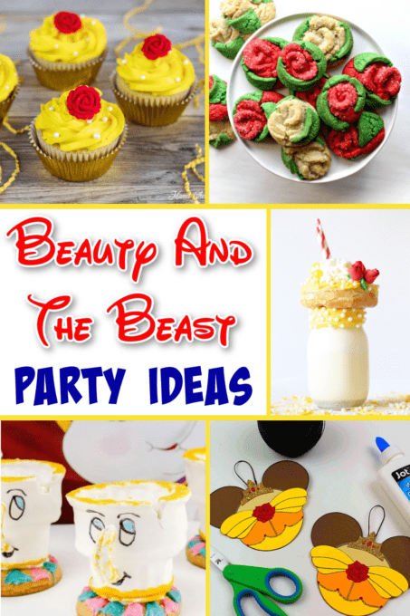 Beauty and the beast party pinterest image