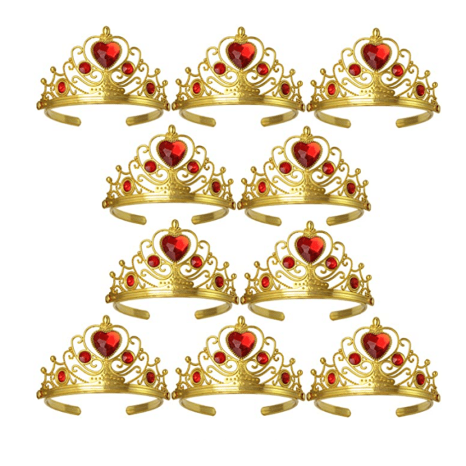 Red and gold tiaras