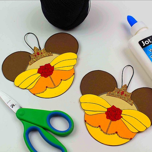 Belle inspired Mickey craft