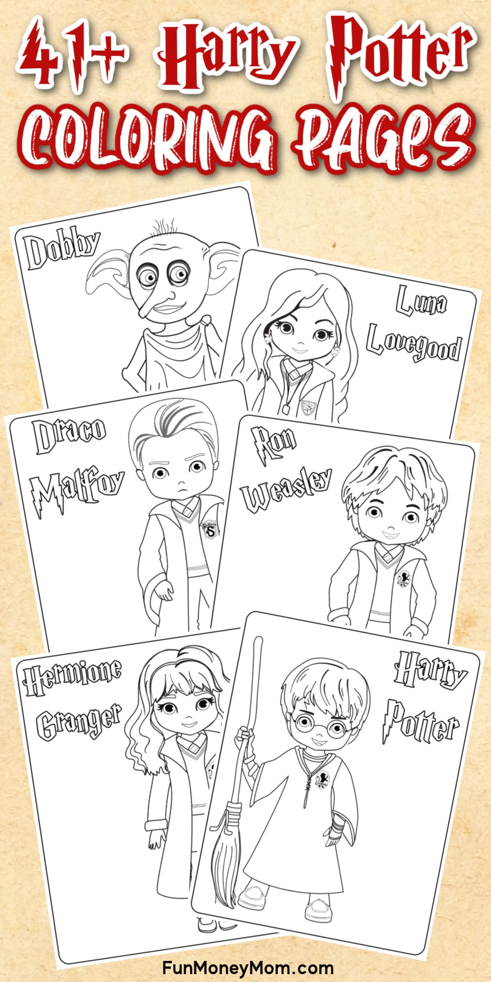 Harry Potter Printable Coloring Pages Pin 1