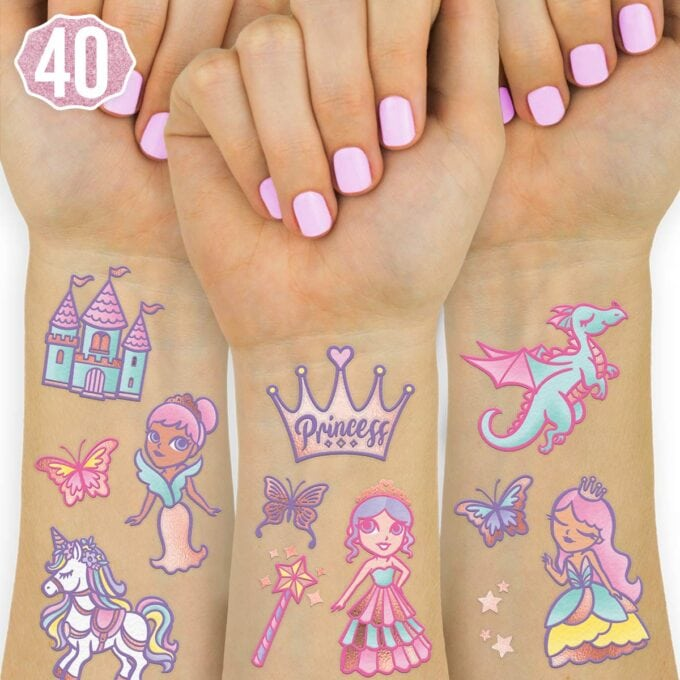 Washable princess tattoos