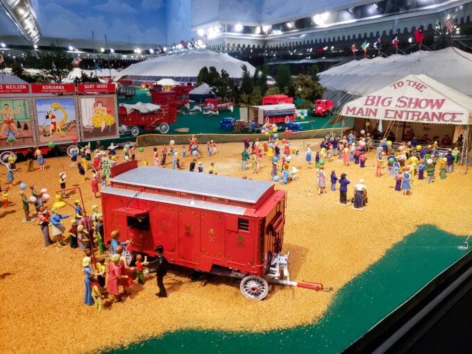 Model circus showing main entrance