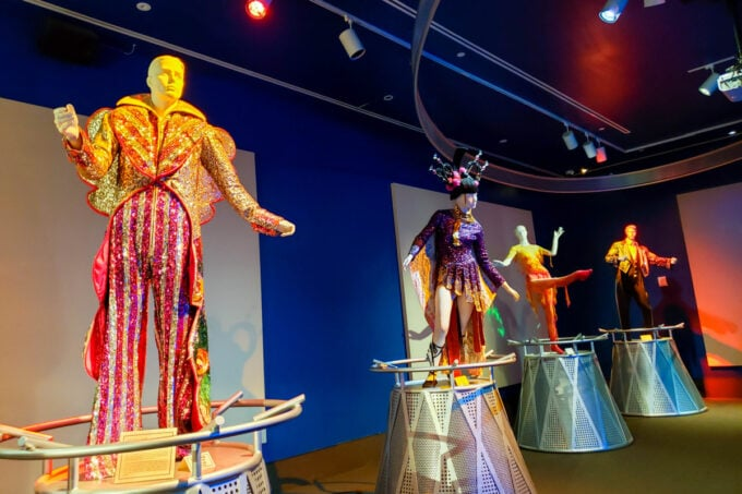 Circus performer costumes at The Circus Museum