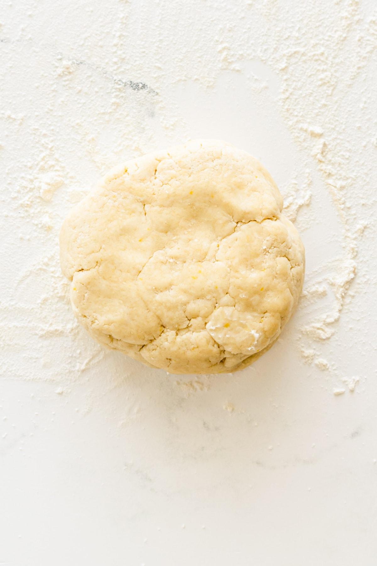 ball of pie crust dough