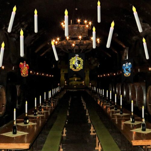 Harry Potter candles floating in great hall
