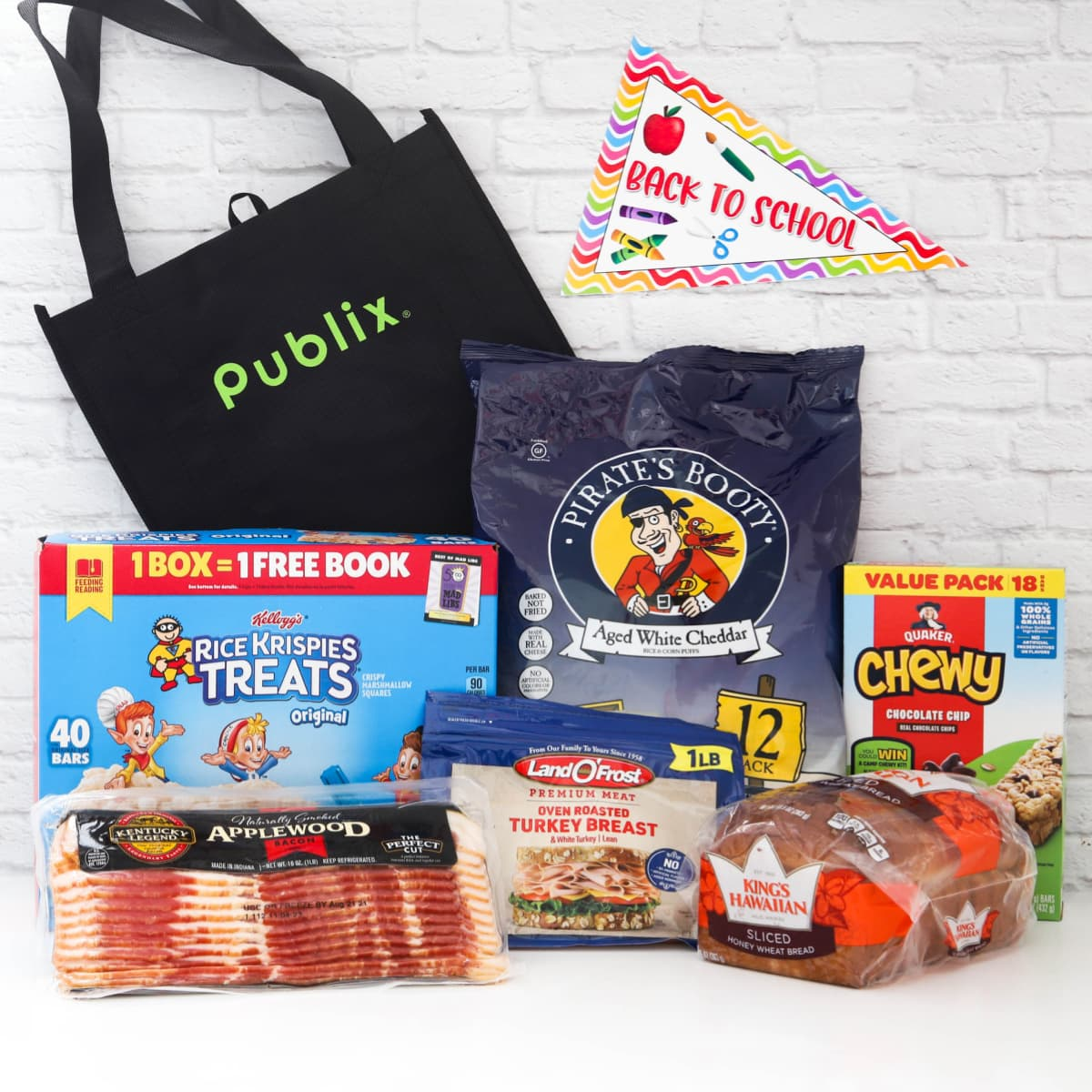 Food on sale during the Publix Back to School promotion