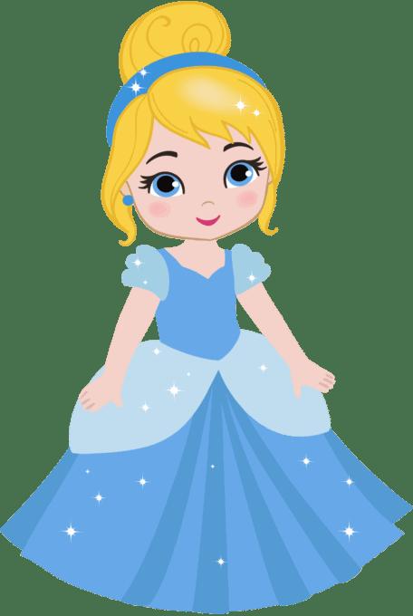 Princess Cinderella in blue dress