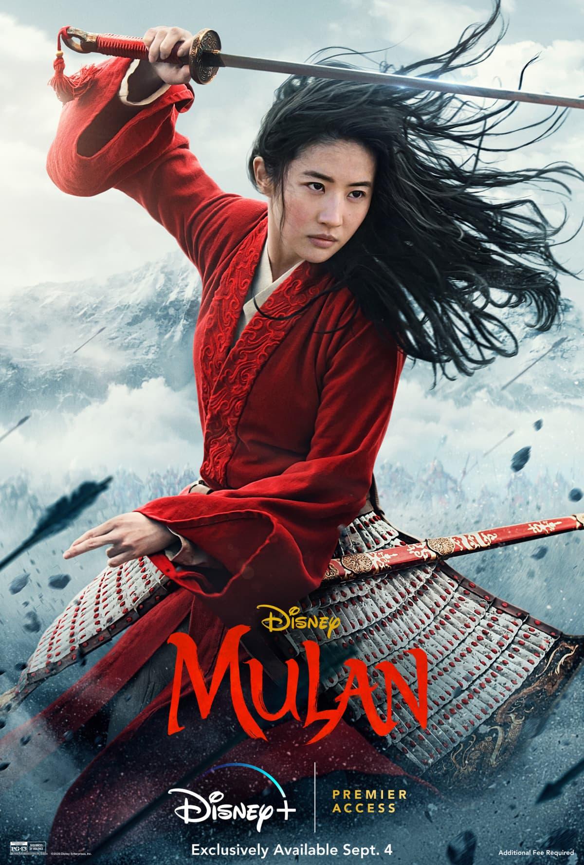 Mulan live action movie poster