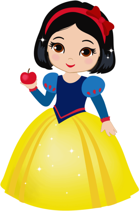 Snow White with apple