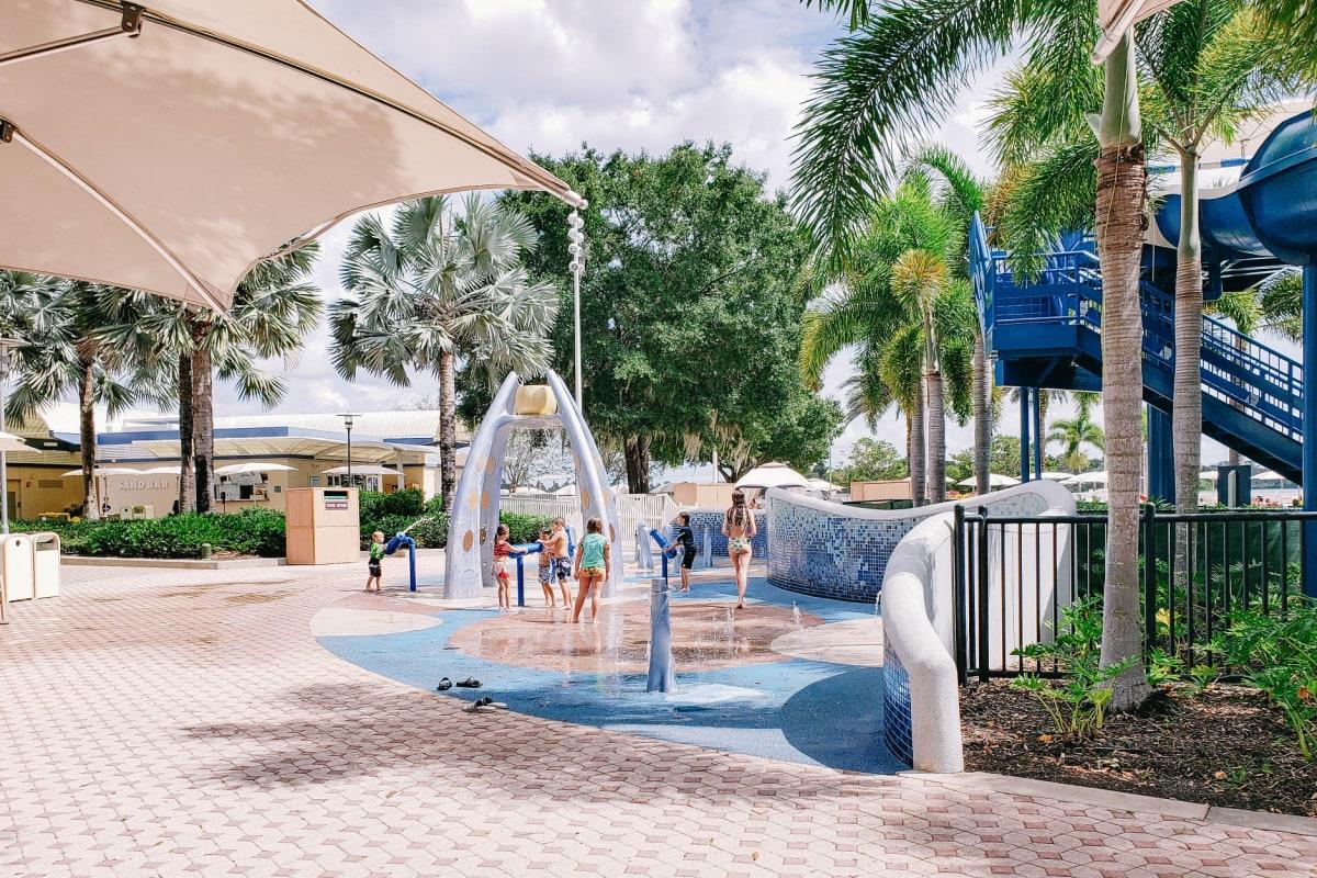 Splash zone at Disney's Contemporary Resort pool area