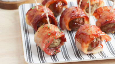 Bacon Wrapped Meatballs feature
