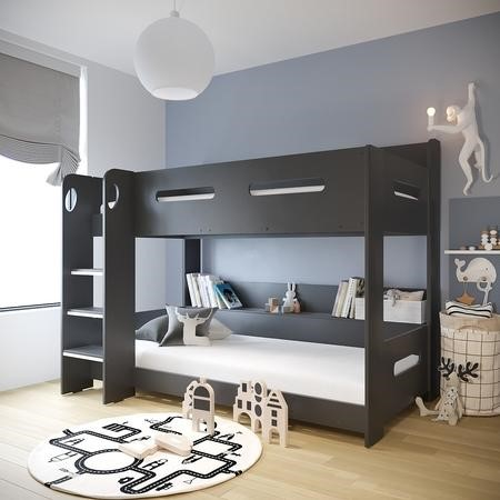 Sky Bunk Bed In Dark Grey Ladder Can Be Fitted Either