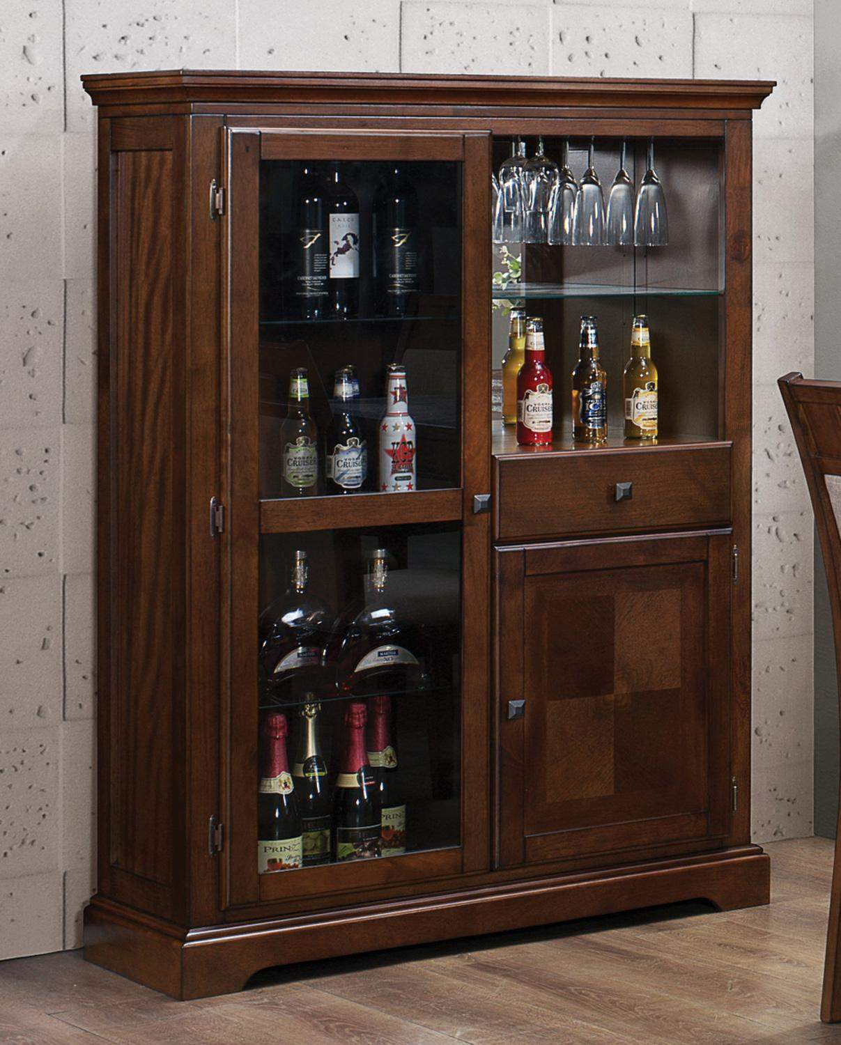 Warren Walnut Curio Cabinet Quality Furniture At