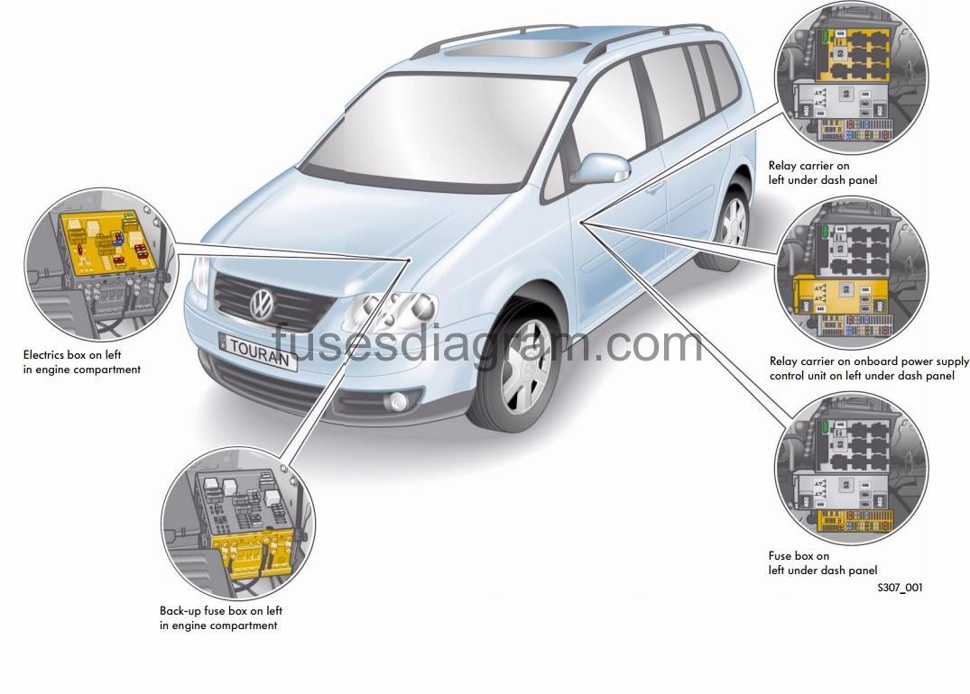2008 Passat Fuse Panel Diagram Box