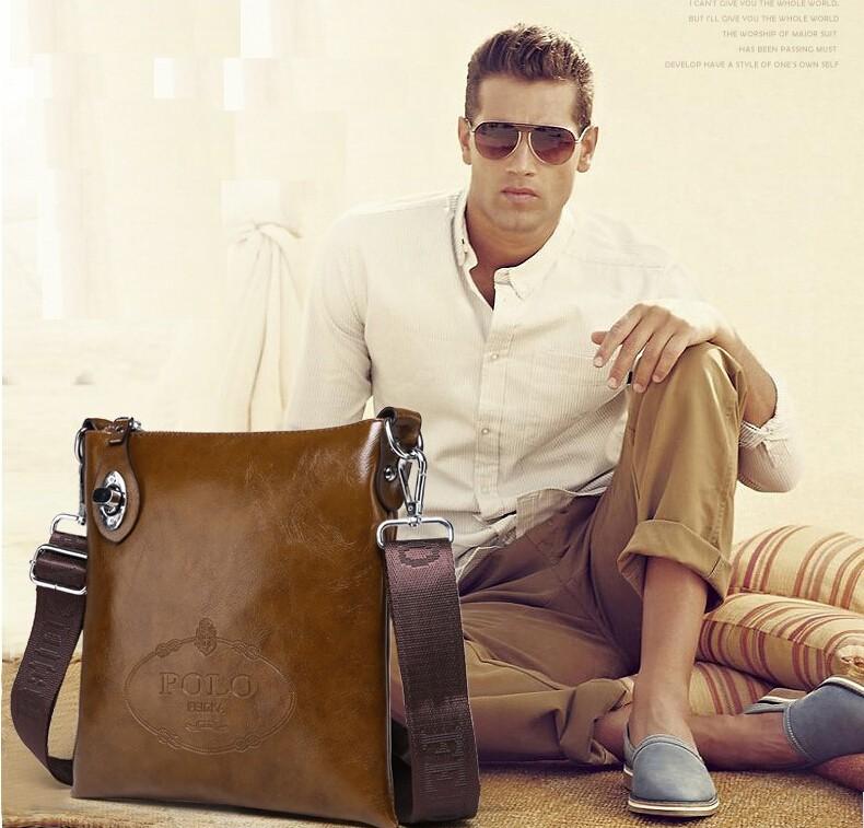 92e0c0767 حار بيع عالية الجودة بو الجلود رسول حقيبة أزياء الرجال حقيبة الكتف عارضة  حقيبة