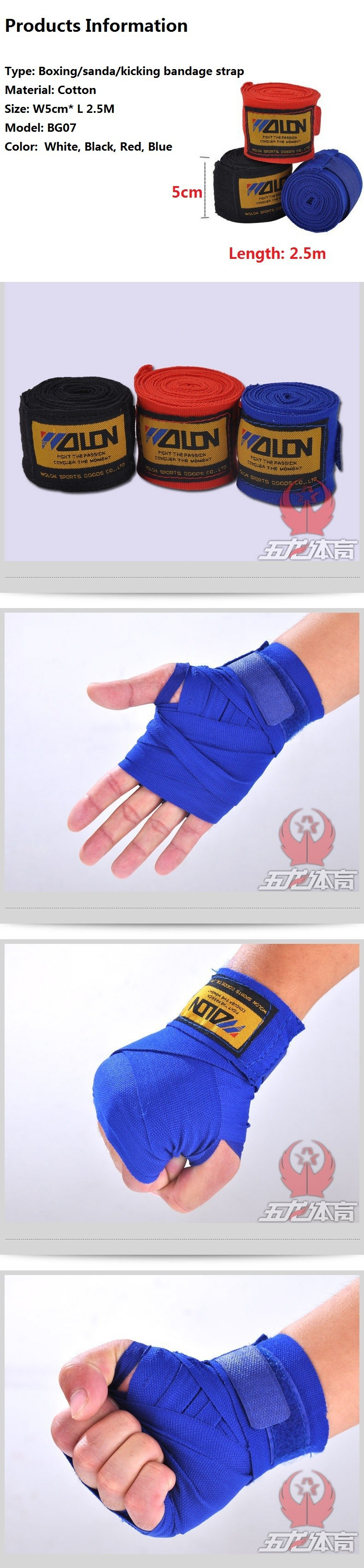Ataduras Boxe Mão Alça De Proteção De Pulso Wraps comprimento 3 Metros//5 metros Novo 34