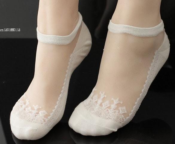 5 paires filles Blanc pour Femme Genou Motif Papillon Pop Chaussettes Bonneterie P16