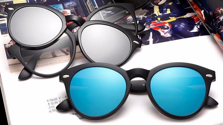 75ed083a6 BENZEN الاستقطاب مشبك مغناطيسي نظارات TR 90 طلاء النظارات الشمسية الذكور  قصر النظر النساء الرجال نظارات إطار أسود مع حالة 9150