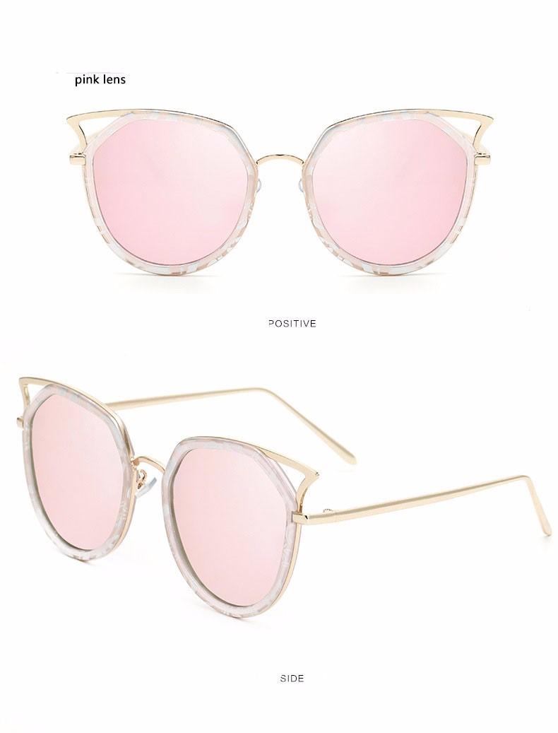 74de9832e ⑤القط العين مرآة نظارات 2017 جديد أزياء النساء نظارات الشمس العلامة ...