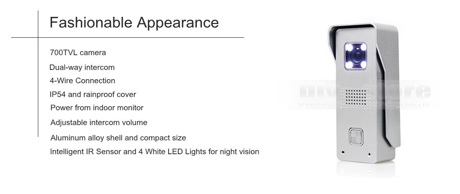 Bague vidéo sonnette Wi-Fi Activé Smart Phone haute densité Caméra Sécurité Vision de nuit protocole Internet