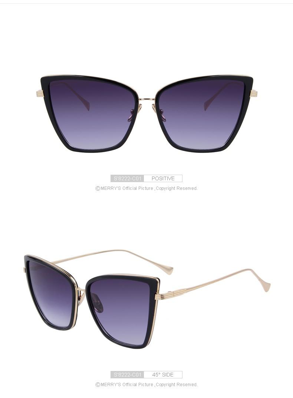 2bf53c3b1d ٩(^‿^)۶MERRY'S Mode Femmes Lunettes de Soleil Cat Miroir Lunettes En ...