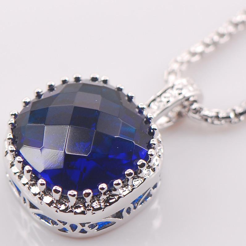 Pulsera de mujer vintage azul circón cadena enlace de superposición de joyería de plata esterlina
