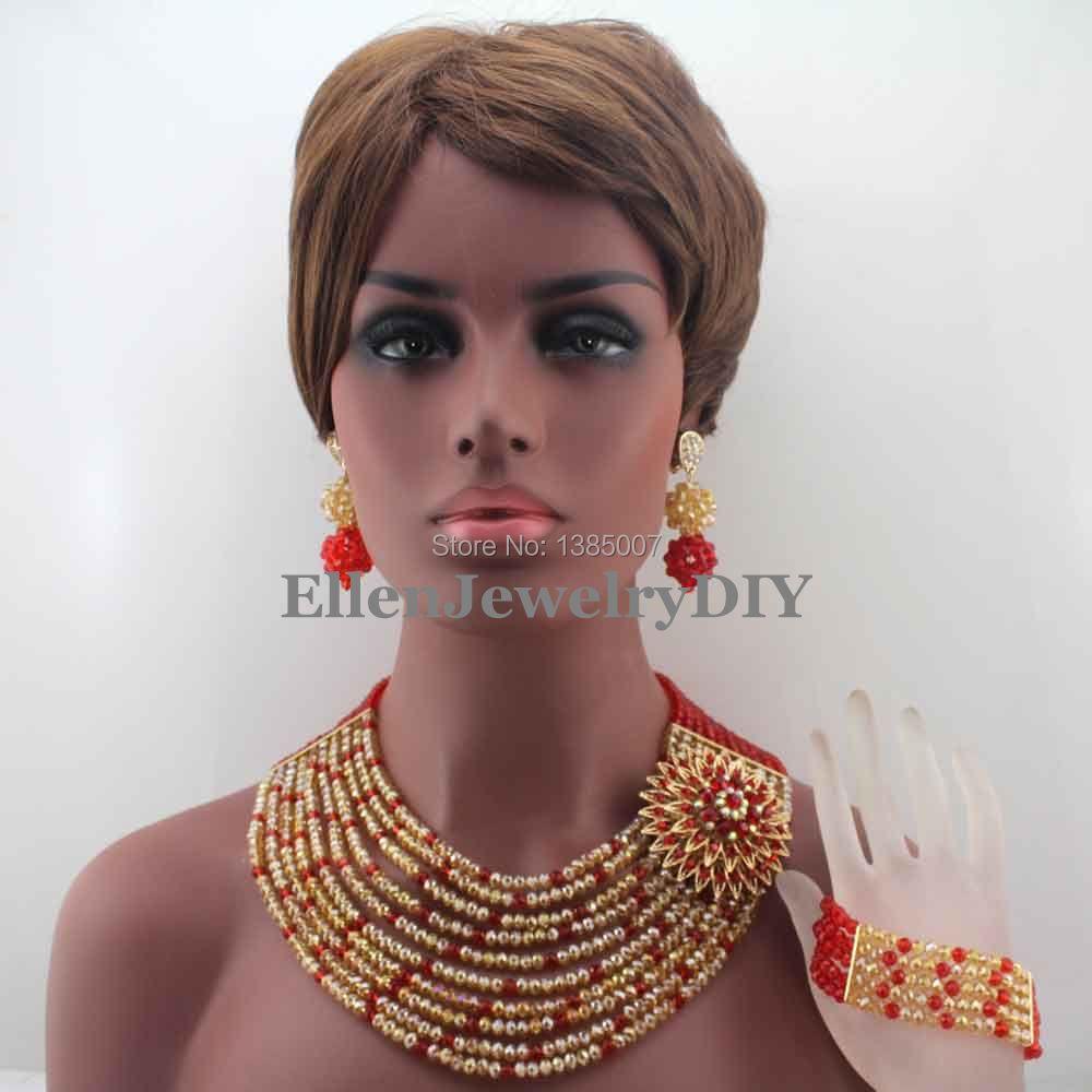 100 piezas de vidrio despierta perlas 8 mm coral rojo perlas bricolaje joyas perlas 34