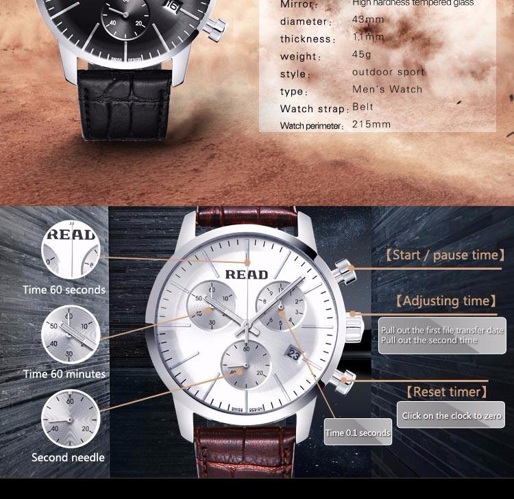 20945b48dd8f0 Click here to Buy Now!! أعلى ماركة الساعات الرجال الفاخرة قراءة جديدة أزياء  الرجال الطلب كبير مصمم الكوارتز الرجال ساعة اليد relogio masculino relojes