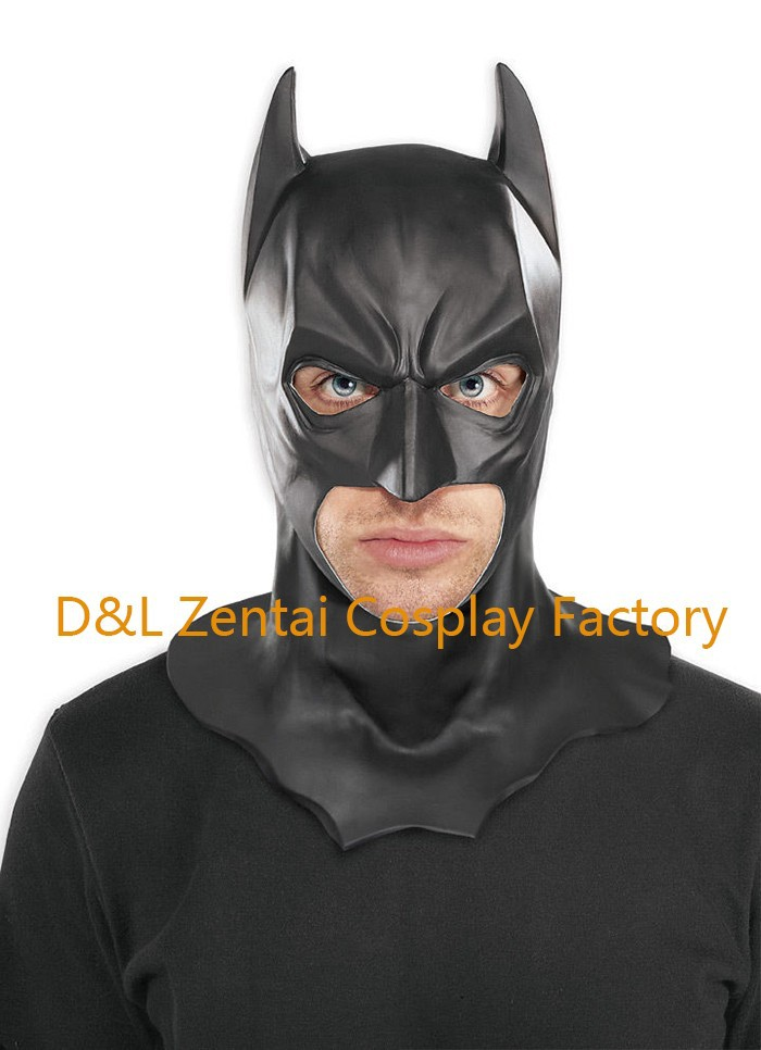 af2b0532983ff Free Shipping Adult Batman Latex Full Mask The Dark Knight Rises Batman  Costume Masks MK103 (