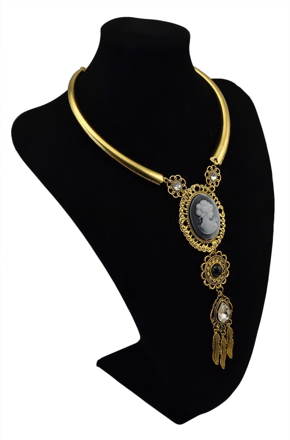 8dfc2f7778f5c Idealway أنيقة الفضة الذهب مكتنزة سلسلة خمر المرأة المختنق المريله ...