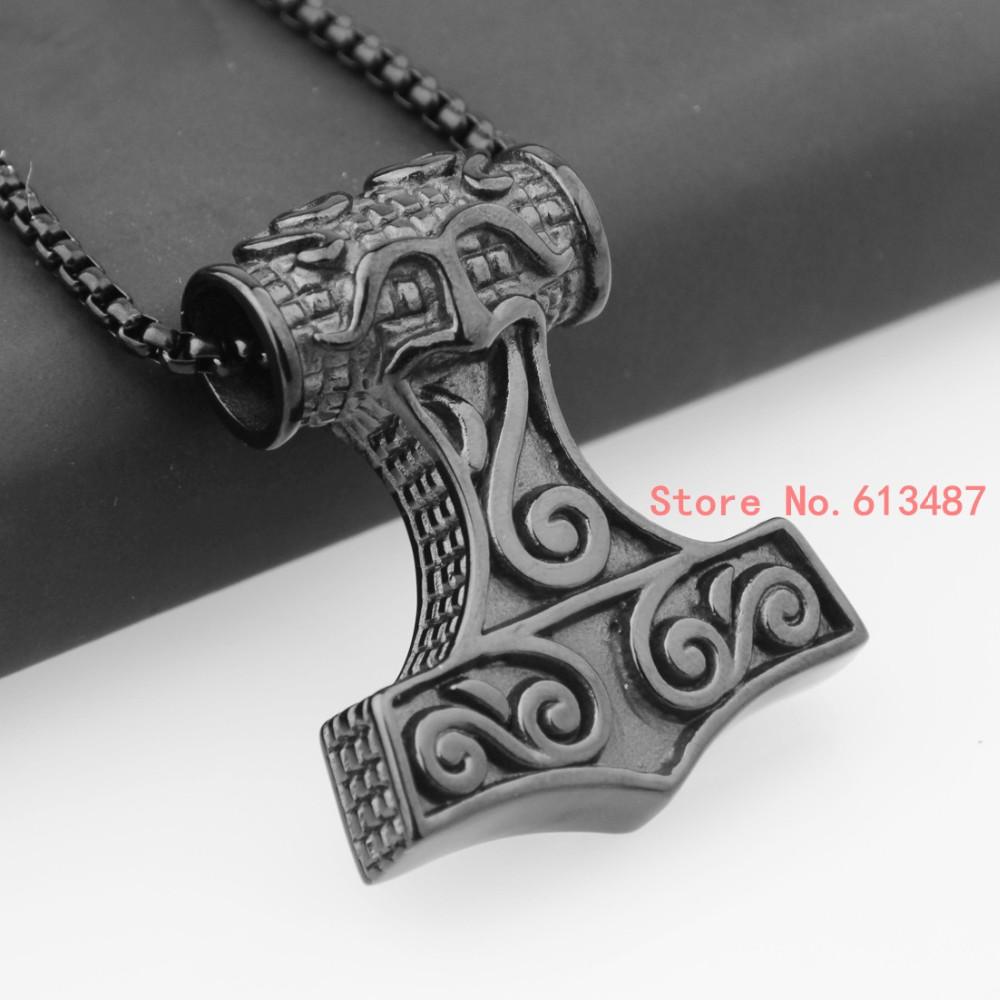 b9dfcdbbc4c4 ⑧Nueva moda negro plata oro Negro 316l Acero inoxidable Thor s ...