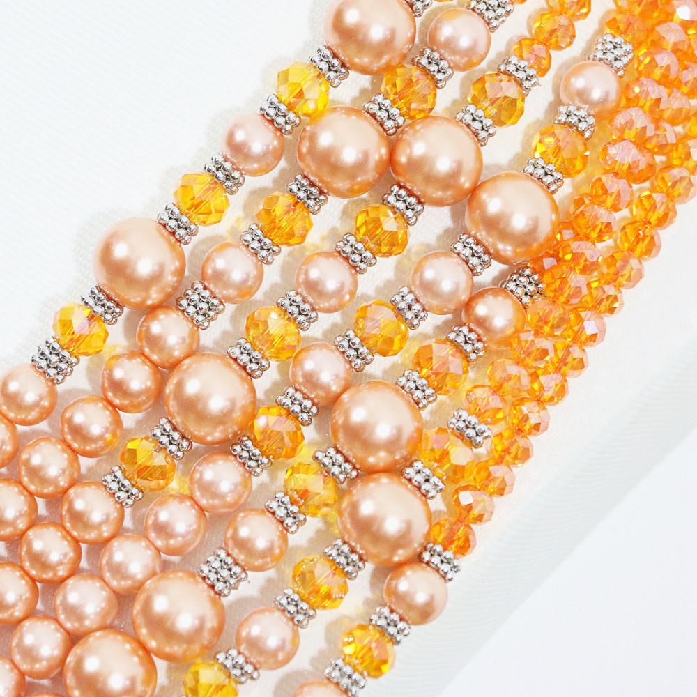 Acrílico perlas 10 unidades grandes Mix agujero grande agujero perlas Paracord bricolaje corazón Love