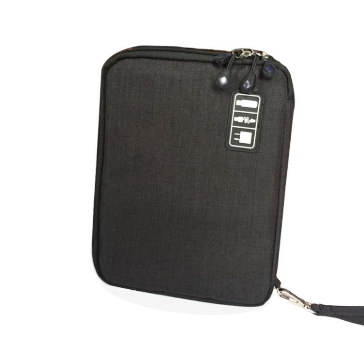 36ddeddb935fd Click here!! التعبئة المنظمون إكسسوارات السفر التخزين لباد كابل نقل بيانات  حزمة مزدوجة الطبقات مطاطا الإلكترونية المحمولة حقيبة التخزين