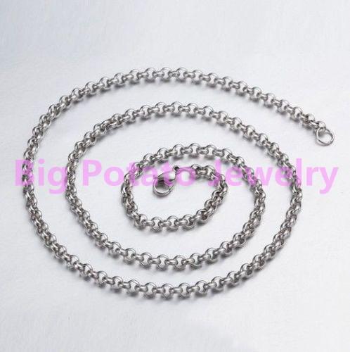 UU 2.4MM EE 1000 cadena de bola de acero inoxidable de alta calidad collares de 30 Pulgadas del grano