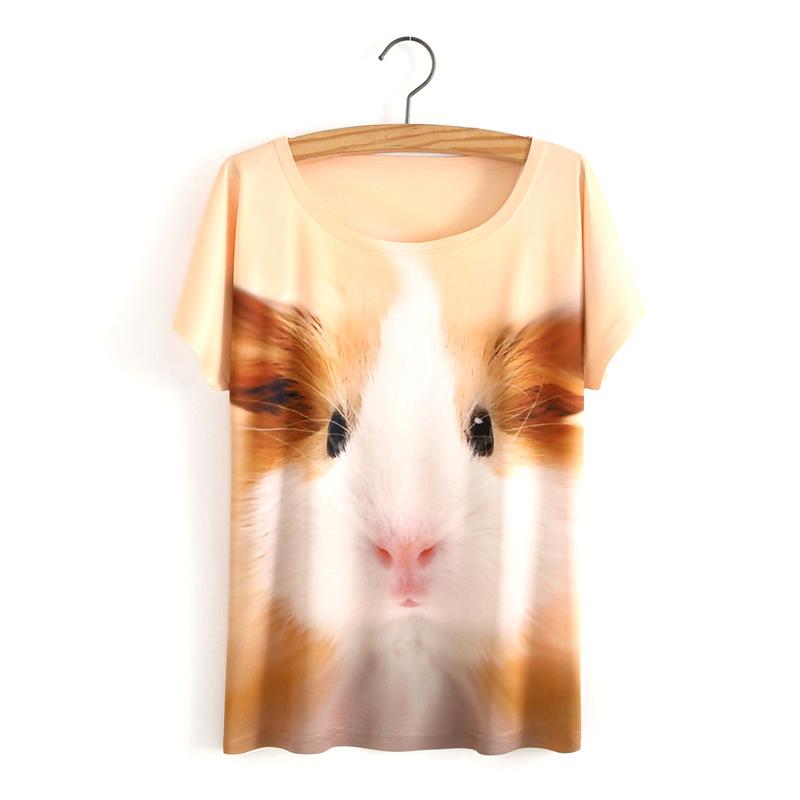 b6183ba9d8 2017 nowych moda 3d wilk druku wiosna lato kobieta odzież t shirt topy  tshirt tee shirt wydrukowano kobiety clothing