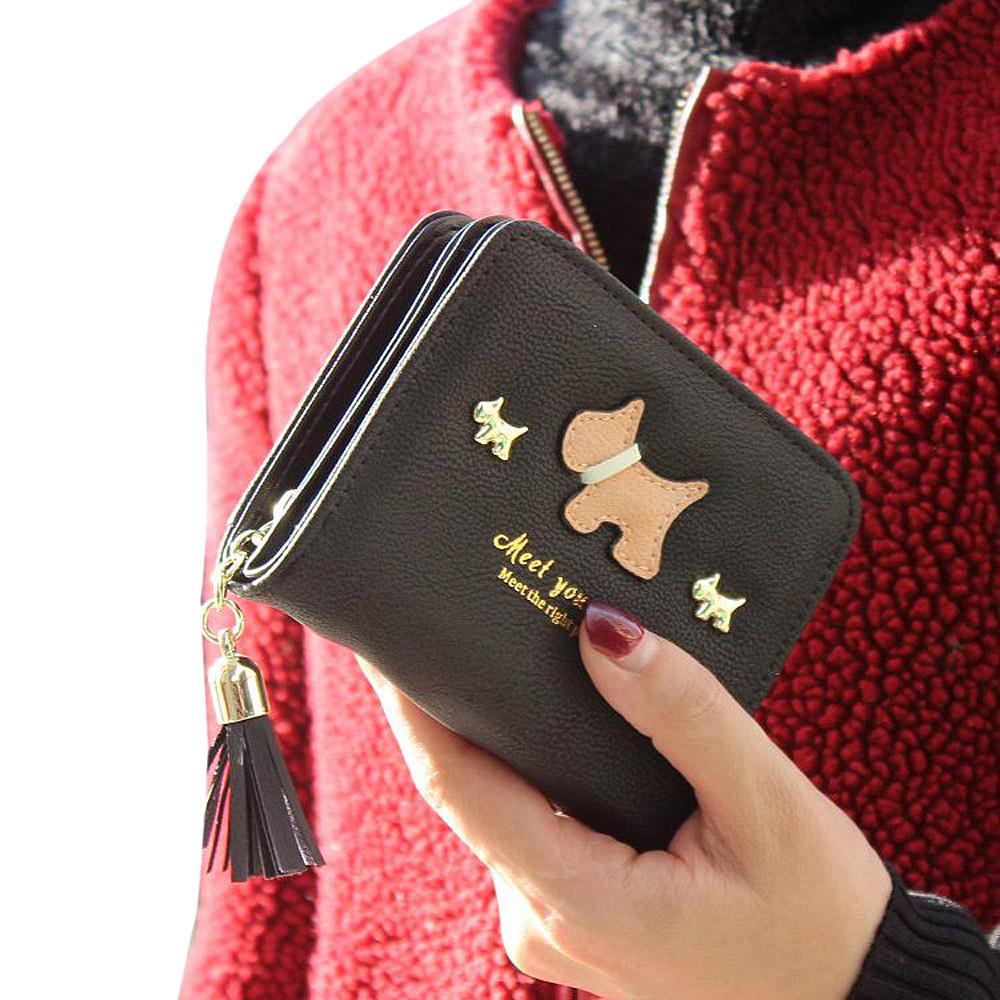 5e82af9bbed2d أحدث حار أزياء المرأة قصيرة محفظة السيدات الجلود الاصطناعية محافظ طحن رملي  محفظة حامل بطاقة مصمم محافظ الساخن