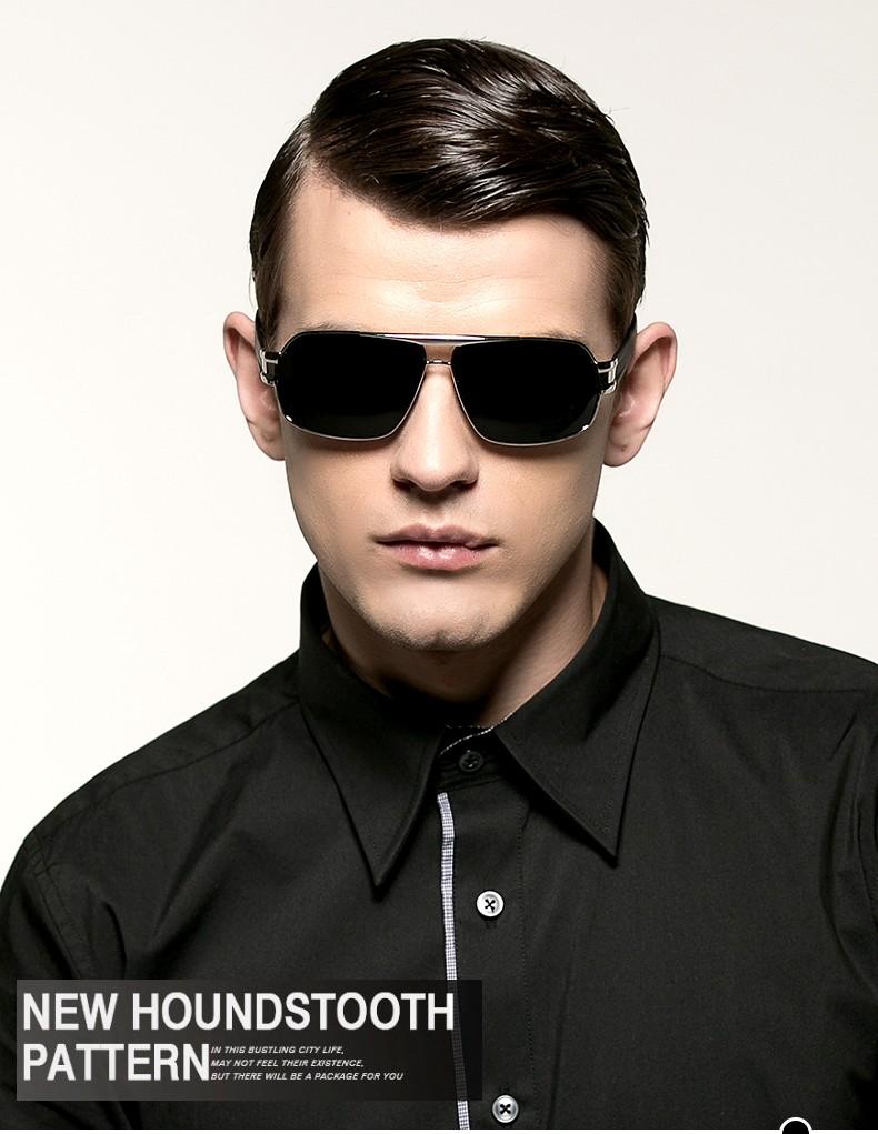 f9ea83e1d شعبية الرجال الاستقطاب الشمسية العسكرية أفضل الأشعة فوق البنفسجية النظارات  الشمسية ل قيادة الشرطة سوبر بارد مكافحة وهج قناع نظارات للرجال .