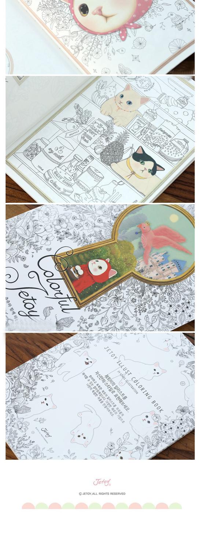 1 Piezas Nuevo Kawaii Gato Libro Para Colorear Pintura De Nino