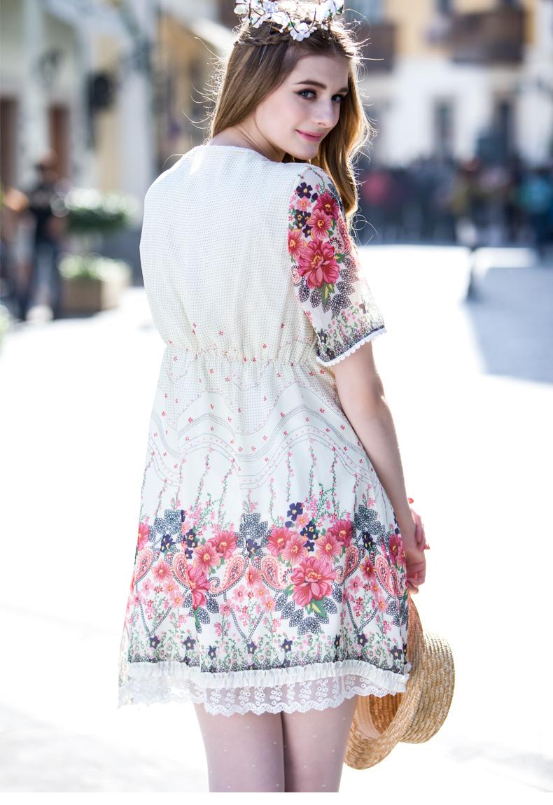 b8aee4e1a2dc5 صيف جديد فساتين المرأة الحامل الأمومة الملابس ملابس امرأة الأزياء الشيفون  قميص بأكمام قصيرة اللباس