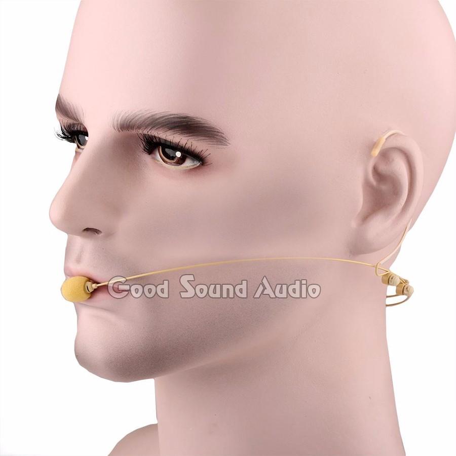 c2f22b664 5 قطع البيج 3.5 ملليمتر جاك المكثف المزدوج مشبك الأذن Headworn سماعة ...