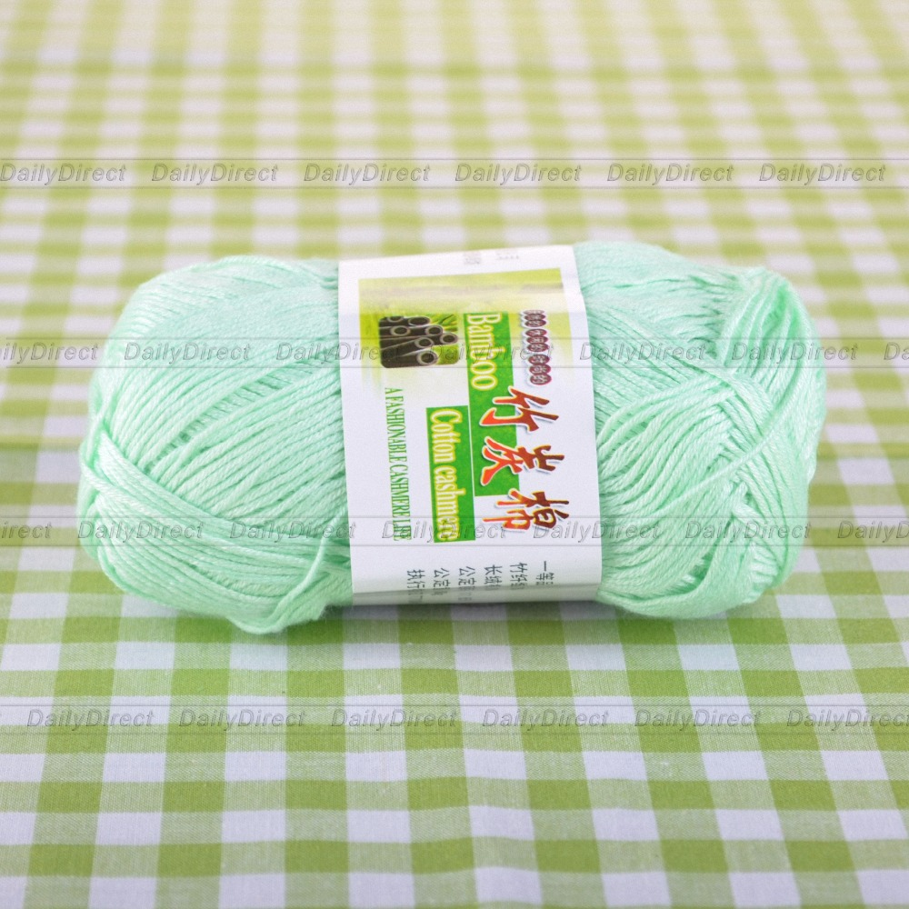 VENTE 50 g 1 Ball Soft Natural Bamboo Coton Tricot Châle Wrap Fil 904 Baby Blue