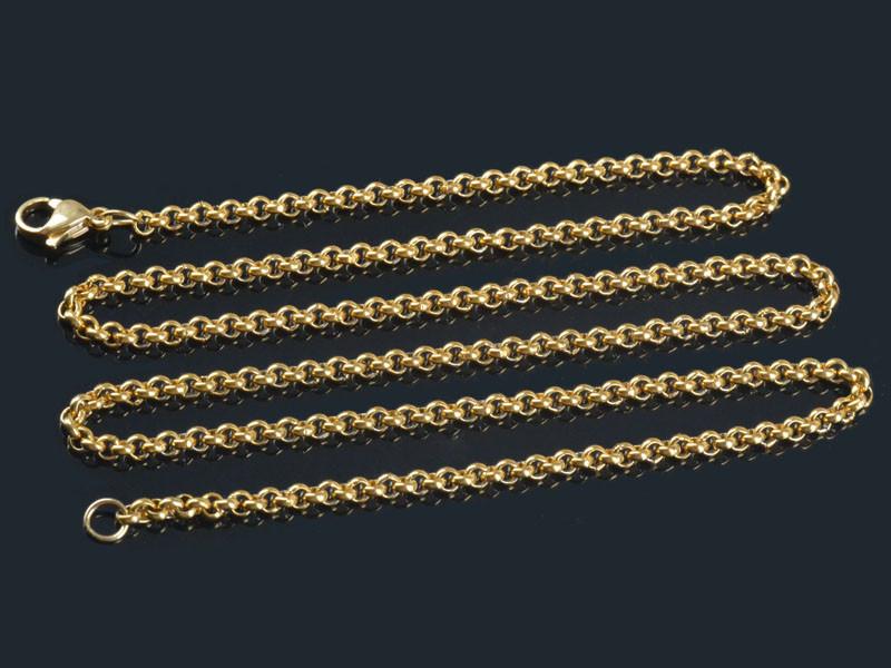 XL rey cadena bizantino cruz remolque de acero inoxidable collar plateado tanques cadena