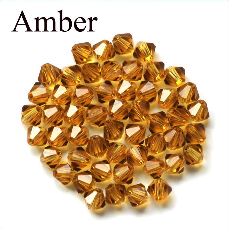 Livraison gratuite 500pcs VIOLET AB Acrylique Perles 4 mm # 5301 Bobine biconique Beads loose