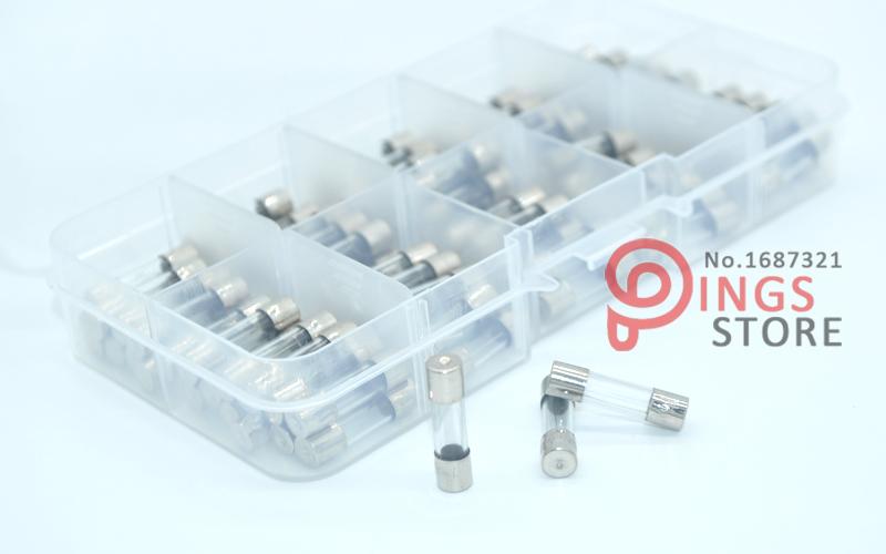 1A 5A 100PCS 5x20mm fusible rapide tube fusible tube en verre fusible assorti kit mixte tube dassurance 0.2A Transparent 20A 2A 10A 8A 0.5A 5A 3A 15A