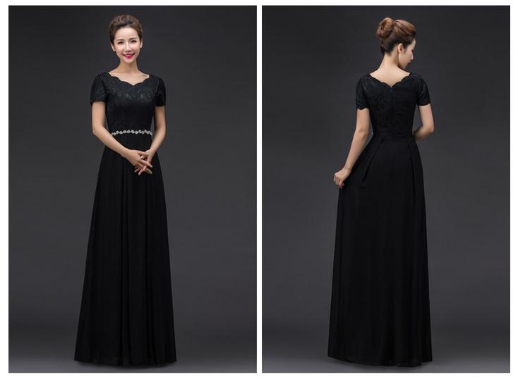 c648222abd ᗐFantazyjne elegancki long black formalna glamorous szary zroszony ...